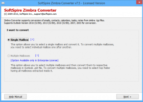 Migrate Mailbox from Zimbra to Exchange screenshot