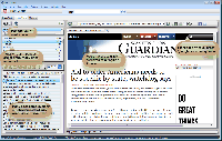 TrackTheLinks Web Browser screenshot