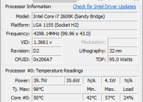 Core Temp 64bit screenshot