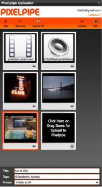 Pixelpipe Media Uploader screenshot
