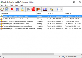 Auto Backup for MySQL Professional screenshot
