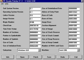 PE Header Patcher screenshot