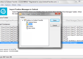 Postbox to Outlook Transfer screenshot
