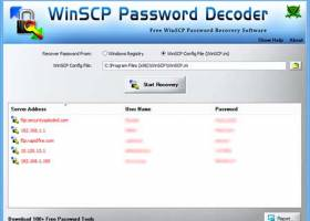 WinSCP Password Decoder screenshot