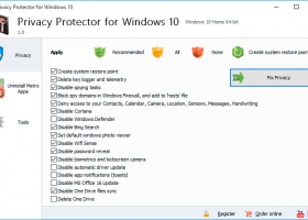 Privacy Protector for Windows 10 screenshot