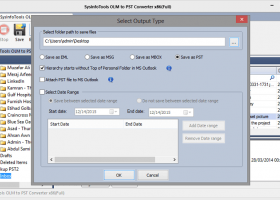 SysInfoTools OLM to PST Converter screenshot