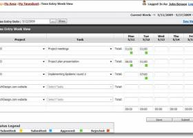 TimeLive Employee Time Tracking Software screenshot
