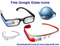 Free Google Glass Icons screenshot