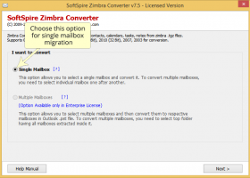 Import Zimbra to Outlook screenshot