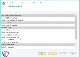 WholeClear EML to MSG Converter screenshot