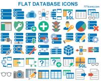 Flat Database Icons screenshot