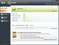 avast! 5 Home Edition screenshot
