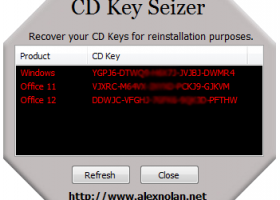 CD Key Seizer screenshot