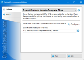 Export Contacts to Auto-Complete Files screenshot
