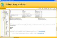 Exchange 2007 EDB Recovery screenshot