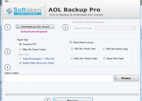 Softaken AOL Backup Pro screenshot