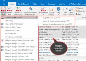 Email to PDF for Outlook screenshot