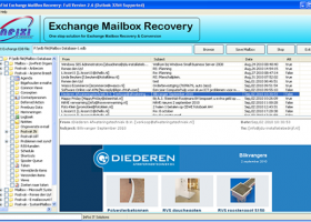Recover Exchange EDB File screenshot