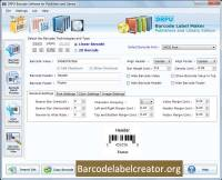 Library Barcode Generator Software screenshot