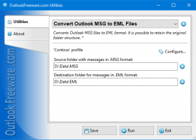 Convert Outlook MSG to EML Files screenshot