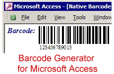 Barcode Generator for Microsoft Access screenshot