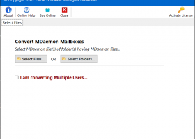 MDaemon mailbox to Outlook PST Conversion screenshot