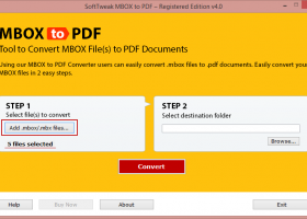 Backup MBOX to PDF screenshot