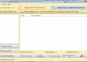 Outlook Mobile & Phone Number Extractor screenshot