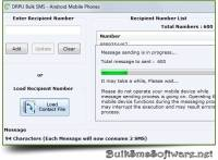 Bulk SMS Software Android Mobile screenshot