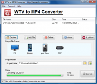 WTV to MP4 Converter screenshot