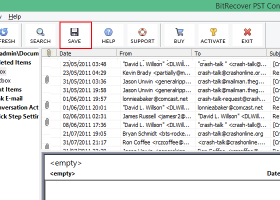 Export Outlook PST to HTML screenshot