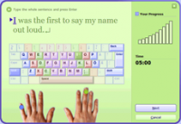 Typing Trainer screenshot