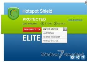 Hotspot Shield screenshot