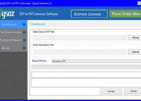 OST to PST Converter SysOZ screenshot