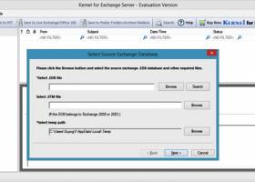 Recover Exchange Server Mailboxes screenshot