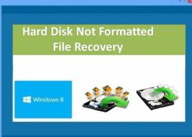 Hard Disk Not Formatted File Recovery screenshot