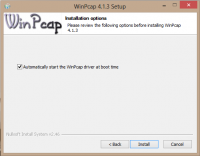 WinPcap screenshot