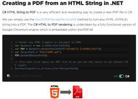 C# HTML to PDF screenshot