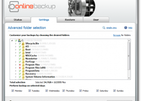 UpdateStar Online Backup screenshot