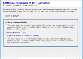 Export MDaemon Mails to PST screenshot