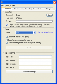 ActMask ALL2PDF PDF Creator screenshot