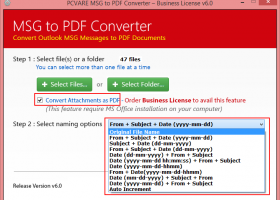 Outlook Email MSG Format to PDF screenshot