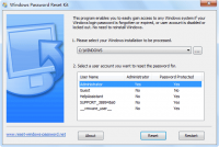 Windows Password Reset Kit screenshot