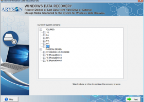 Aryson Windows Data Recovery screenshot