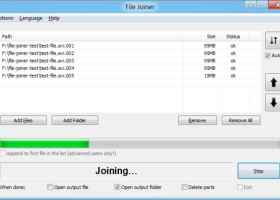 File Joiner (64bit, portable) screenshot