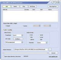 Free WMV to AVI MPEG Converter screenshot