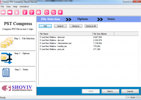 PST Compress and Compact screenshot