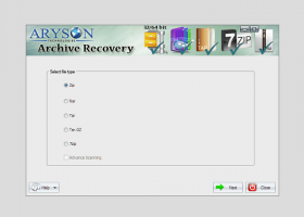 Aryson Archive Recovery screenshot