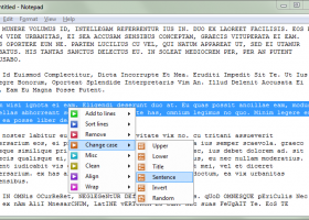 Dolphin Text Editor Menu screenshot