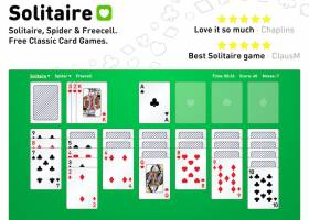 Solitaire, Spider and Freecell screenshot